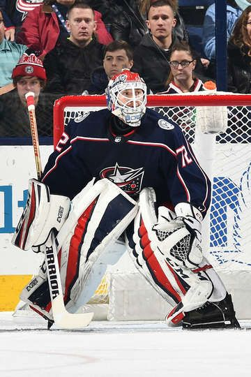COLUMBUS, OH - JANUARY 30: Goaltender Sergei Bobrovsky #72 of the Columbus Blue Jackets defends the net against the Minnesota Wild on January 30, 2018 at Nationwide Arena in Columbus, Ohio. (Photo by Jamie Sabau/NHLI via Getty Images)