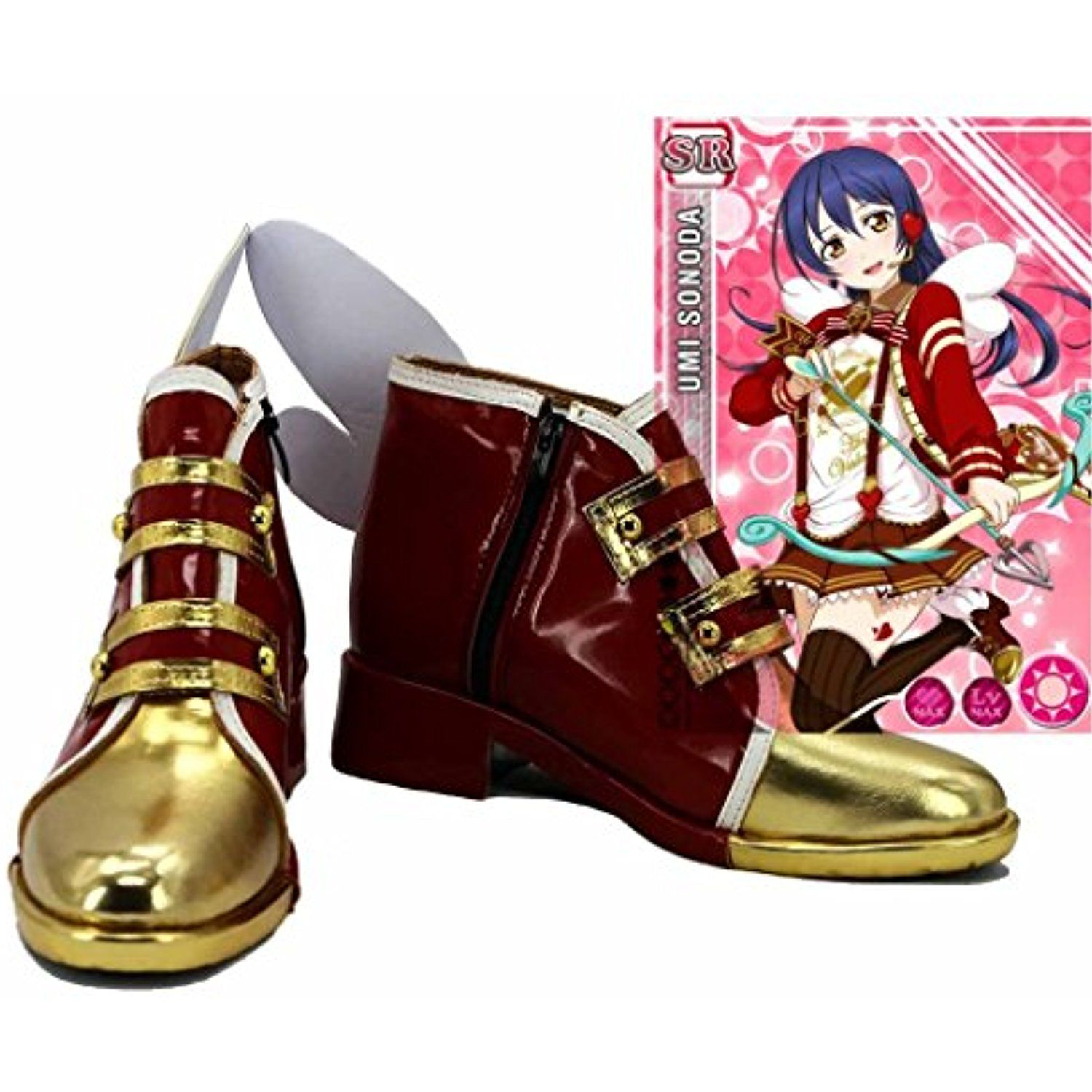 LoveLive! Love Live Happy Valentine's Day Chocolate Sonoda Umi Cosplay Shoes Boots Custom Made