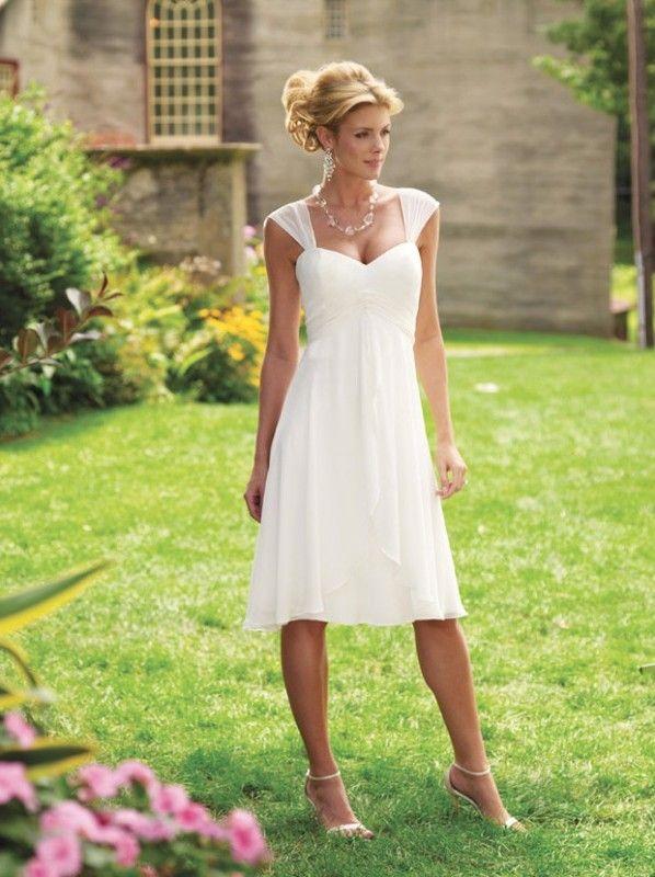 Short Casual Beach Wedding Gown Dresses Informal