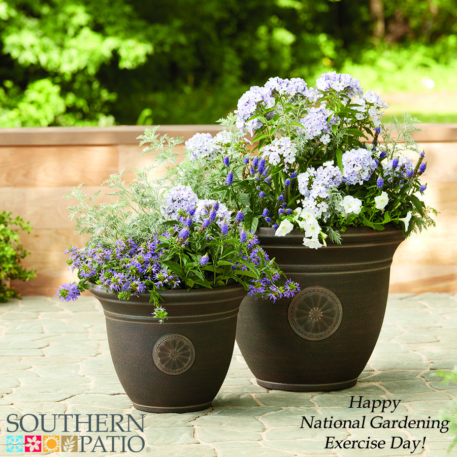 June 6th is National Gardening Exercise Day! Even the simple act of putting together beautiful container gardens can be good exercise and it's also very therapeutic! So get out your decorative planters and get some exercise! Learn more about these planters!