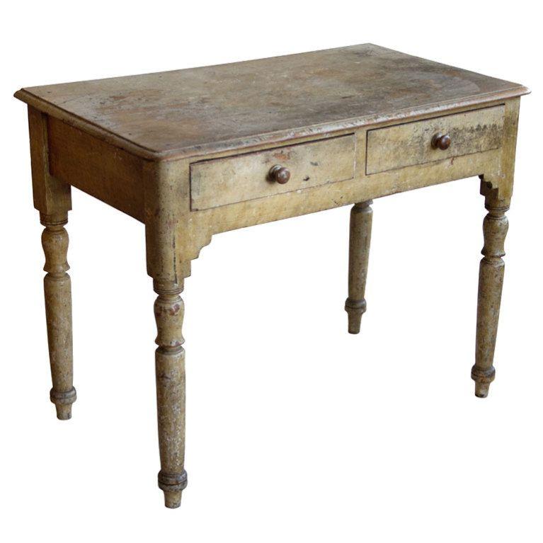 Antique Leather Sofa Northern Ireland: Rare Antique Irish Pine Desk In 2019