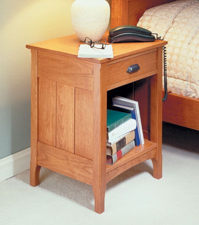 Cherry Bedside Table Woodsmith Plans Furniture Plans Pinterest