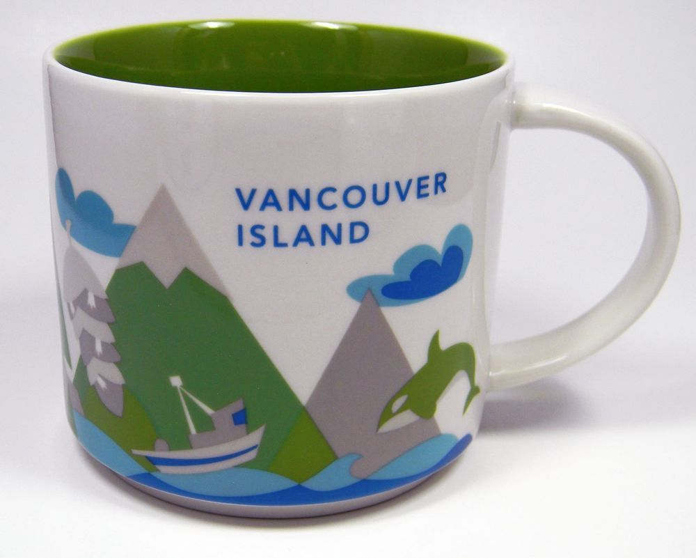 Starbucks Mug Vancouver Island You Are Here Collection Coffee Cup 011023960 Yah
