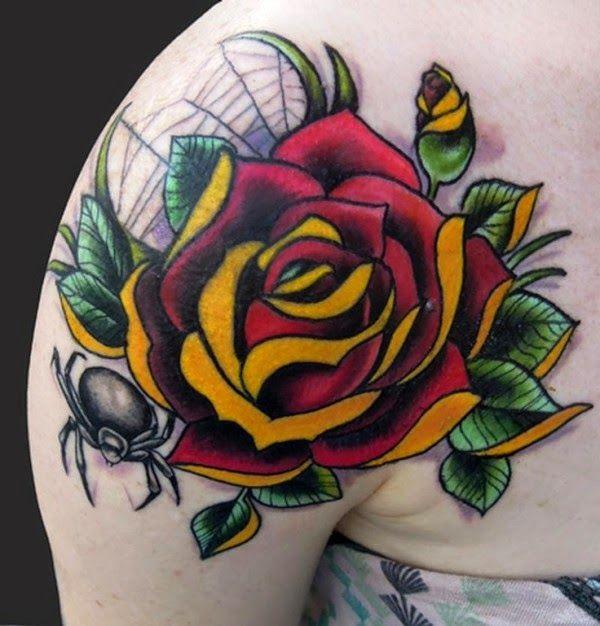 Tattoo Rosa Old School Red Tattoos Tattoos Tattoo Shading