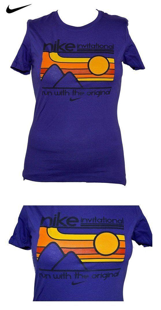 27.99 - Nike Women s Nike Invitational Slim Fit Running Shirt Large Purple 9f6307a4a