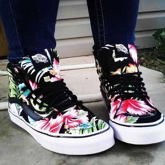 Hawaiian Floral SK8-Hi Slim | Shop Shoes At Vans