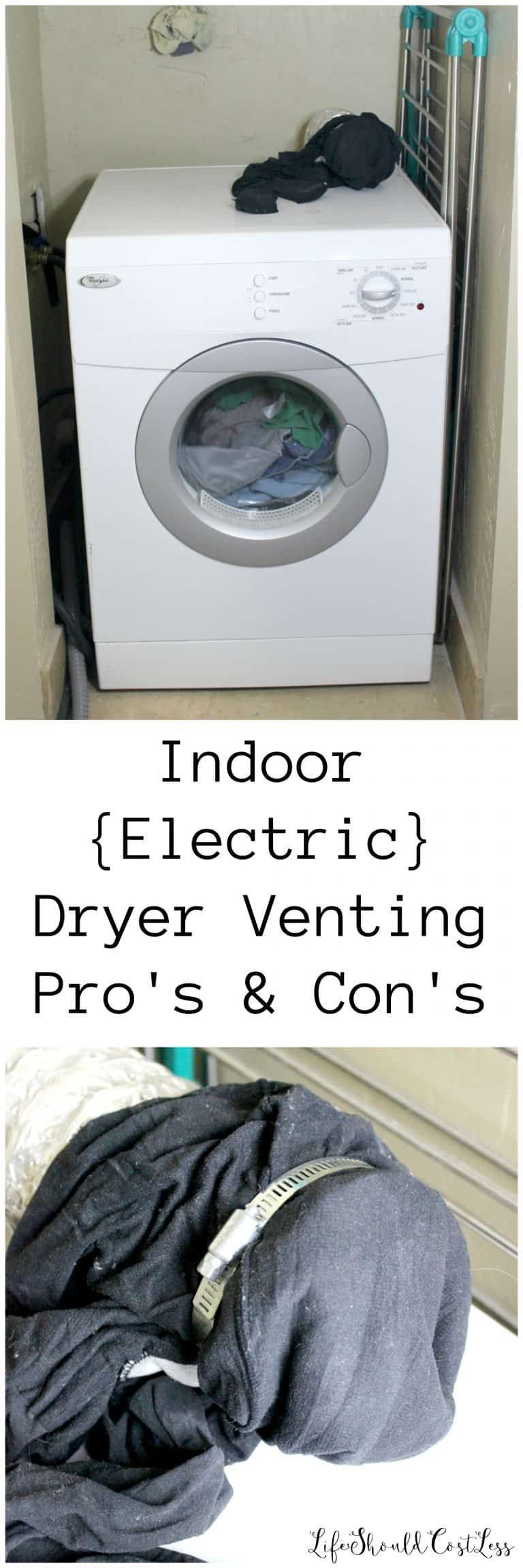 Indoor electric dryer venting pros cons electric