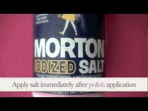 Purple Crystallized Nail Art (using SALT)!