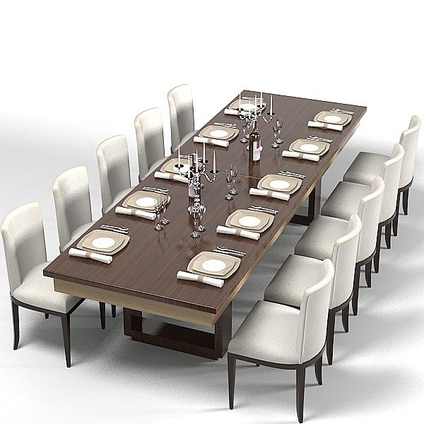 Expandable Modern Dining Room Tables Modern Dining Table 3d