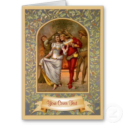 Medieval Christmas Template Zazzle Com Victorian Christmas Cards Vintage Christmas Cards Christmas Cards