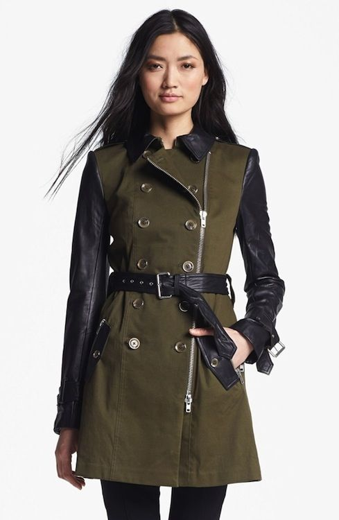 Belted Military Style Trench Coat fashion winter fall coat ...