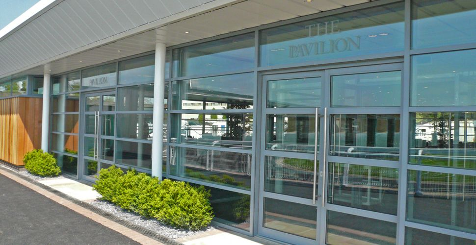 Chester Racecourse. Image showing the new owners and trainers pavilion. For further information on this job and to view more images please have a look at our website. www.fwpgroup.co.uk/
