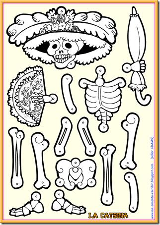 La_Catrina articulada | actividades para preescolar | Pinterest ...