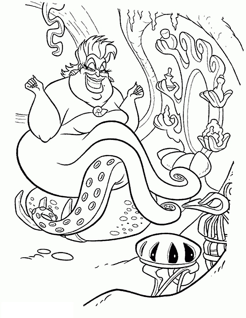 Disney Villain Coloring Pages Printable Shelter Disneyvillains Disney Villain Coloring P Mermaid Coloring Pages Disney Coloring Sheets Disney Coloring Pages