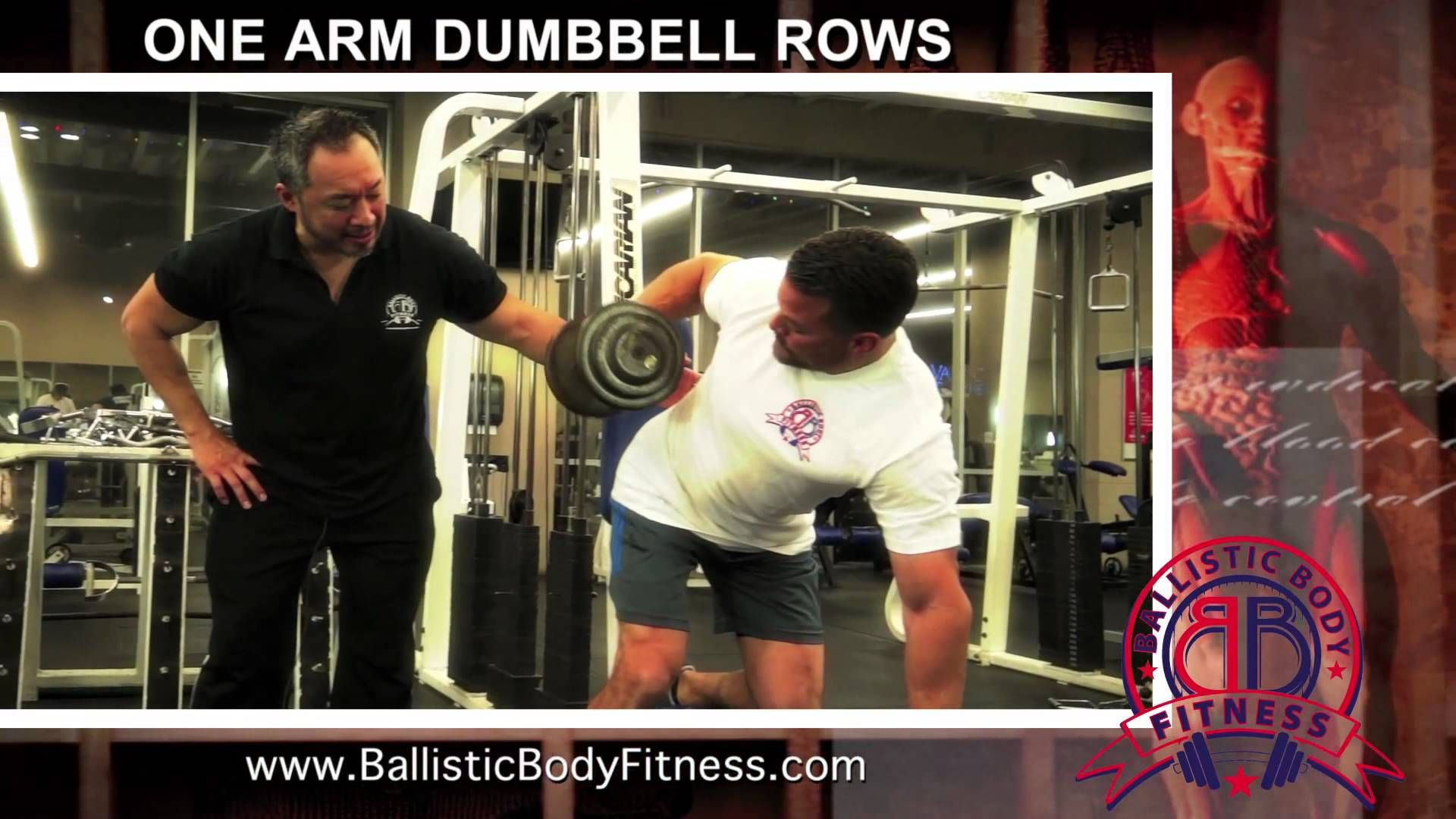 One Arm Dumbbell Rows for back - BBF 90 Day Fitness Challenge Instruction Video #39.  Ballistic Body Fitness / Personal Trainer Burbank