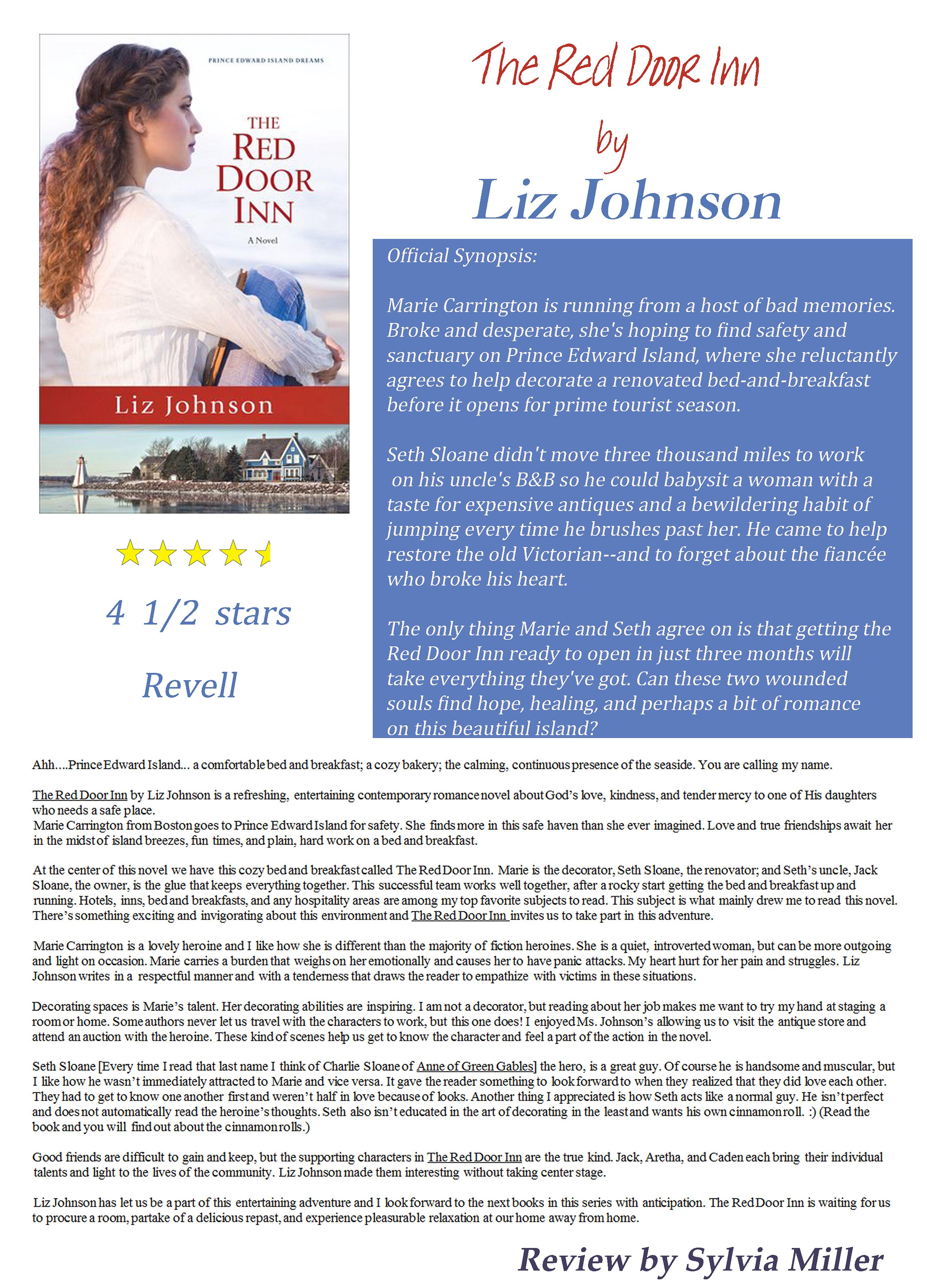 The Red Door Inn By Liz Johnson Httplizjohnsonbooks Http