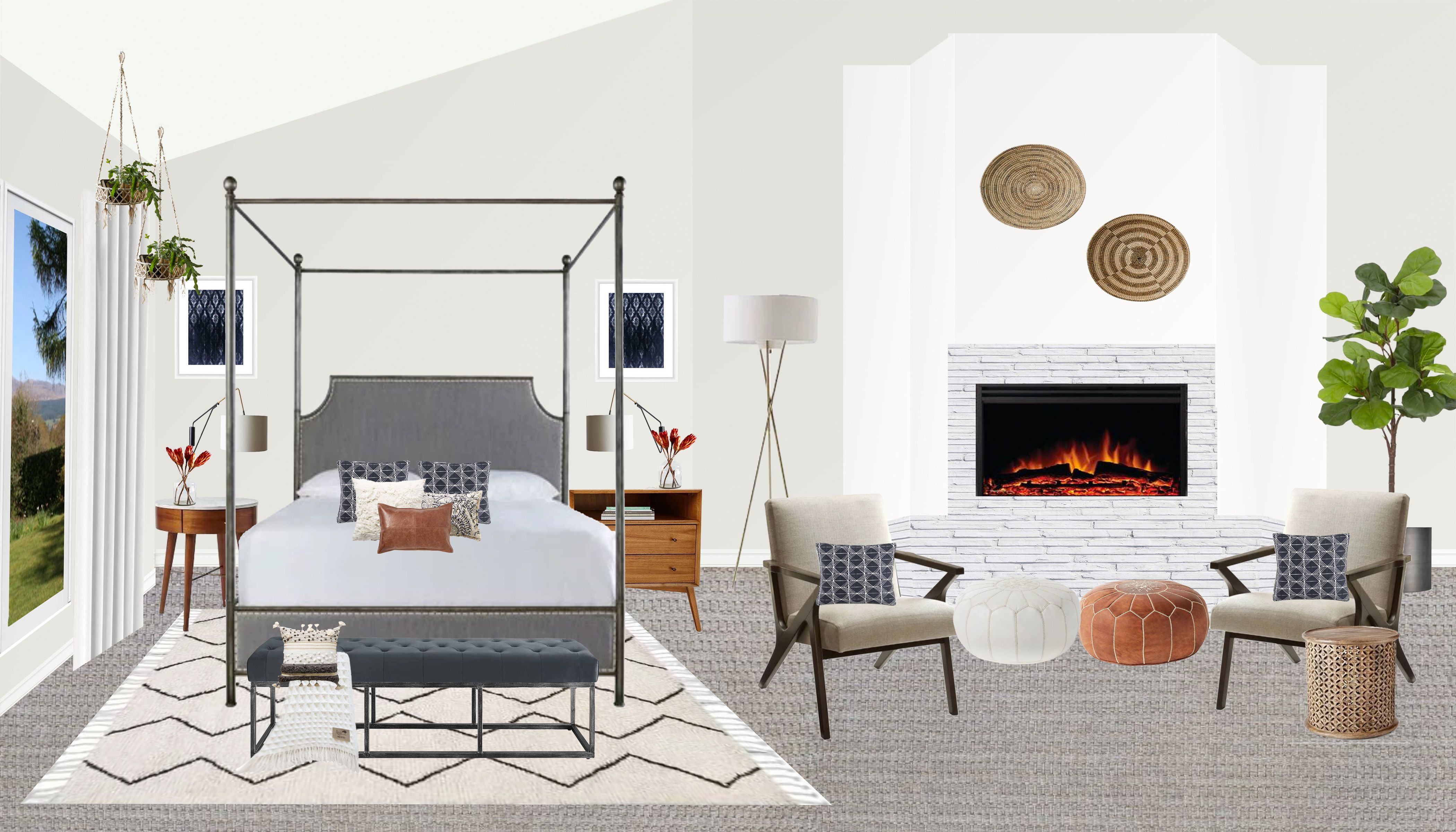 Best Modern Mid Century Master Bedroom Edesign Bedroom Design 400 x 300