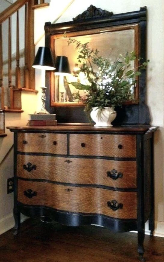 Black Painted Dressers Furniture Chalk Paint Refurbished Recycled