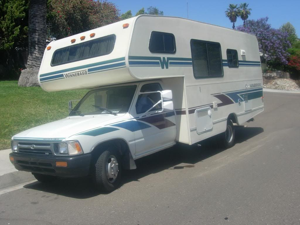 1992 toyota winnebago warrior rv this is like the motor home i own good on gas