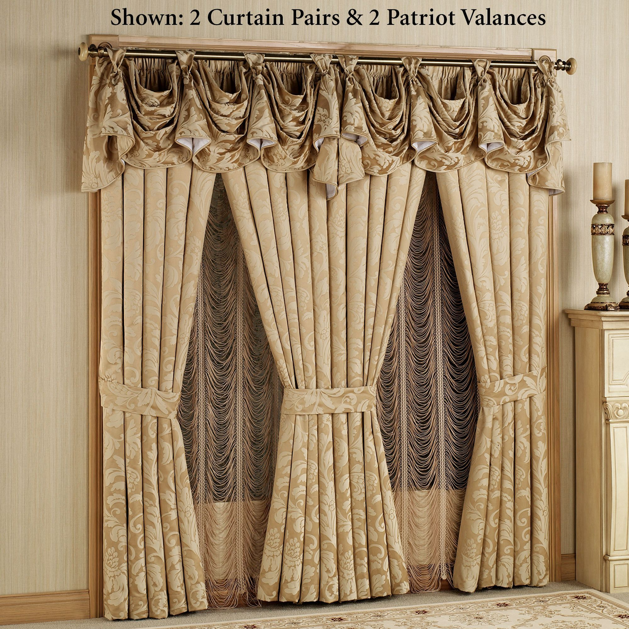 gold elegant curtains Google Search ELEGANT DRAPERY