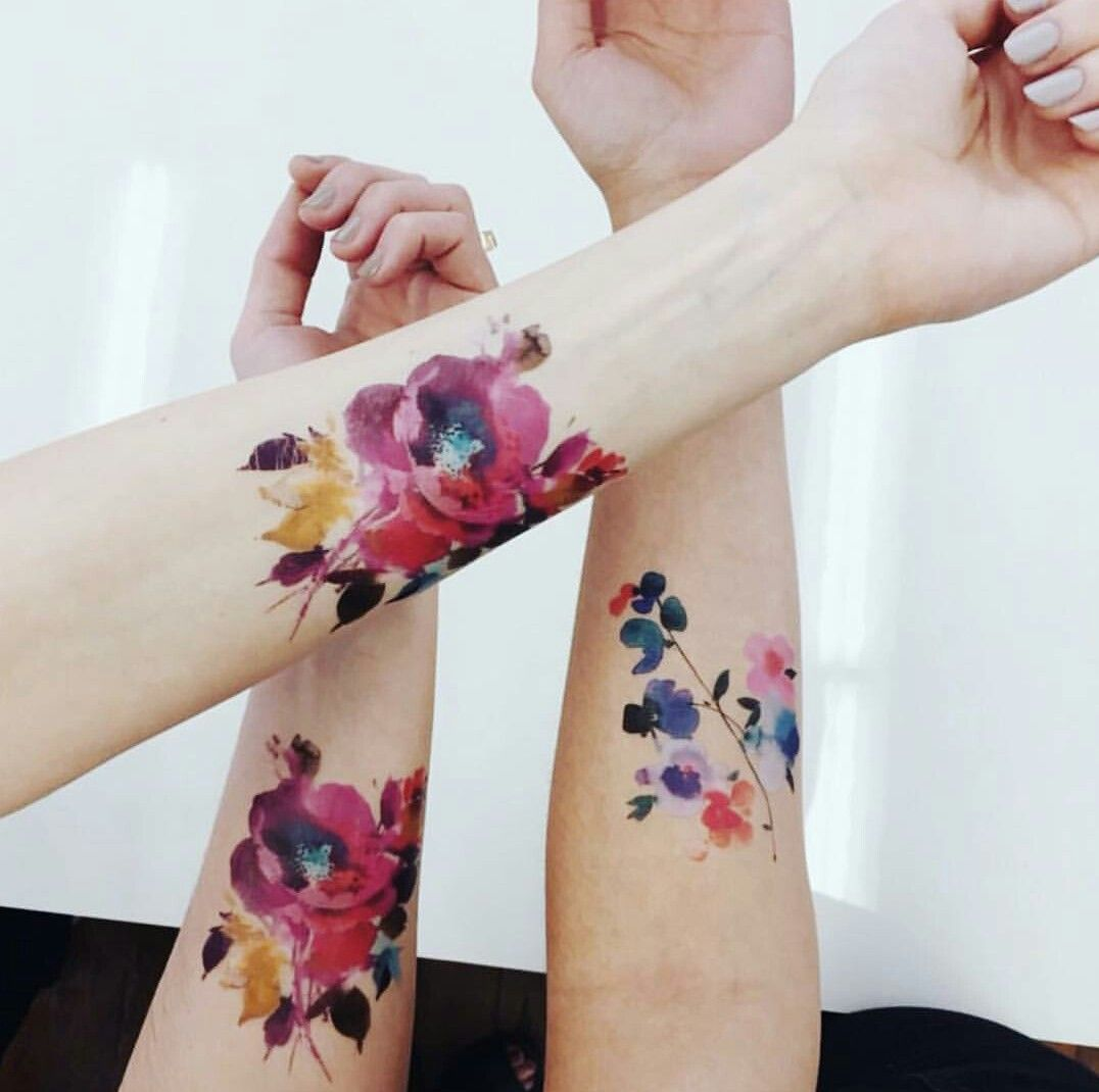 Helendealtry Tattly Tatouage Tatouage Aquarelle Et Idees De