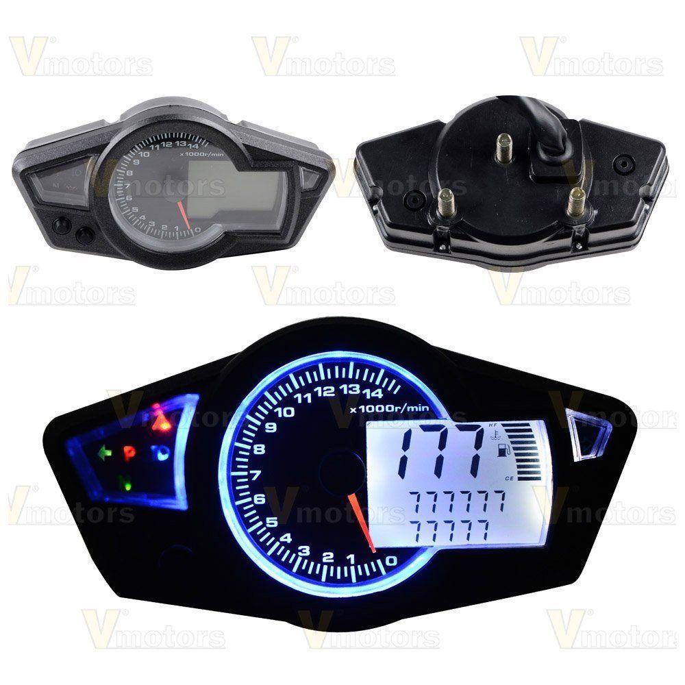 Motorcycle Odometer Speedometer Tachometer Gauge RPM 15000 Universal LCD  Digital #universal #digital #gauge #tachometer #odometer #speedometer  #motorcycle