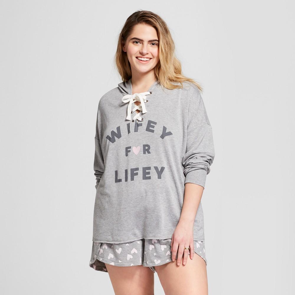 707b369ba Love and Cherish Women s Plus Size Wifey For Lifey Bridal Sleep Sweatshirt  - Heather 3X