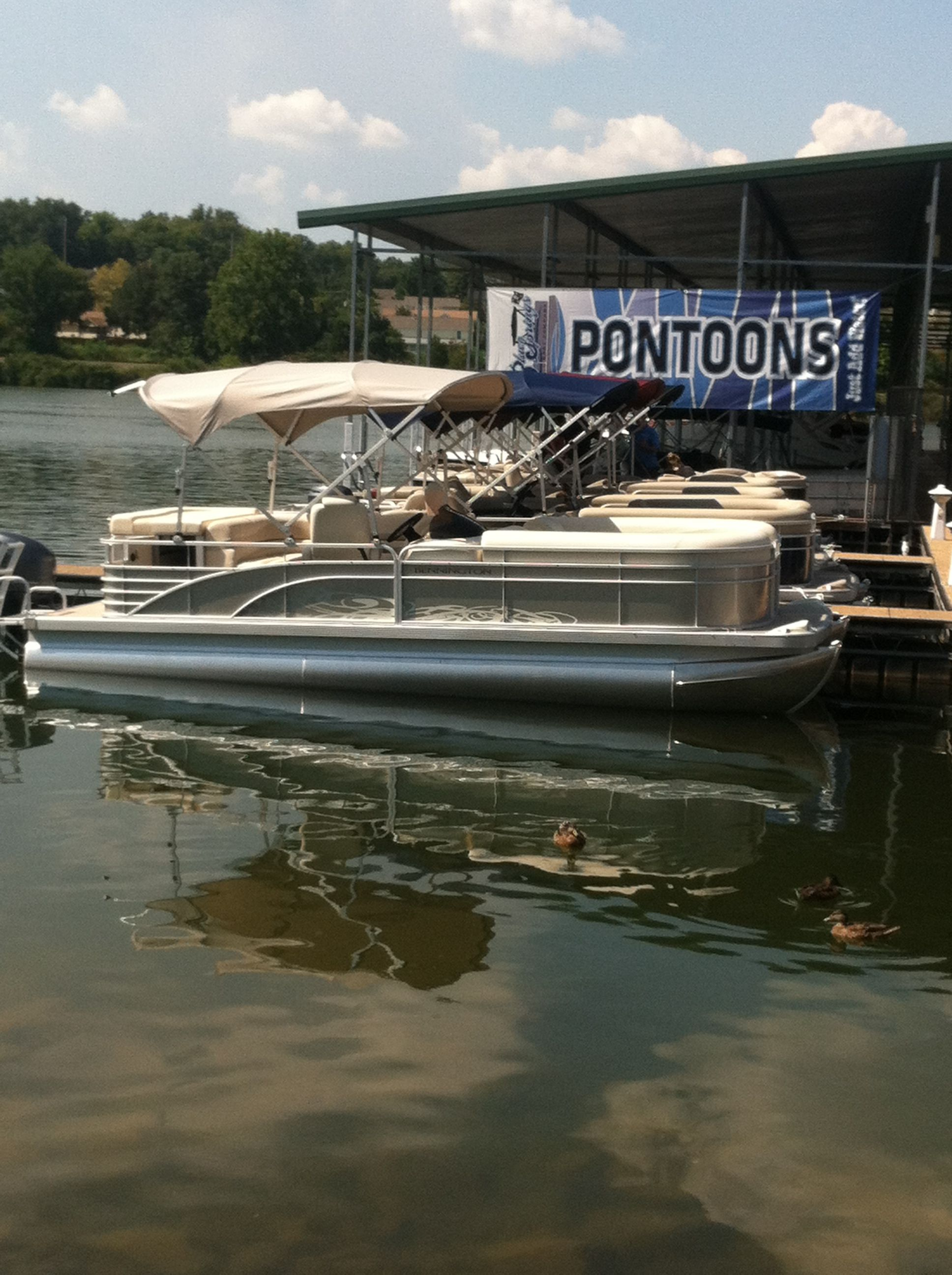 On the water boat show water boat pontoon boat pontoon