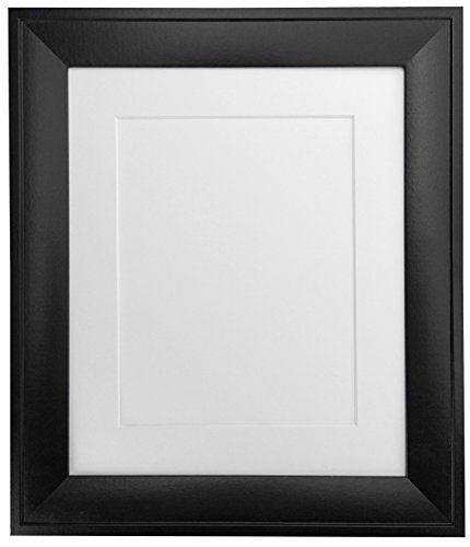 2600 Frames By Post M35 Black Photo Frame With White Mount A1 For