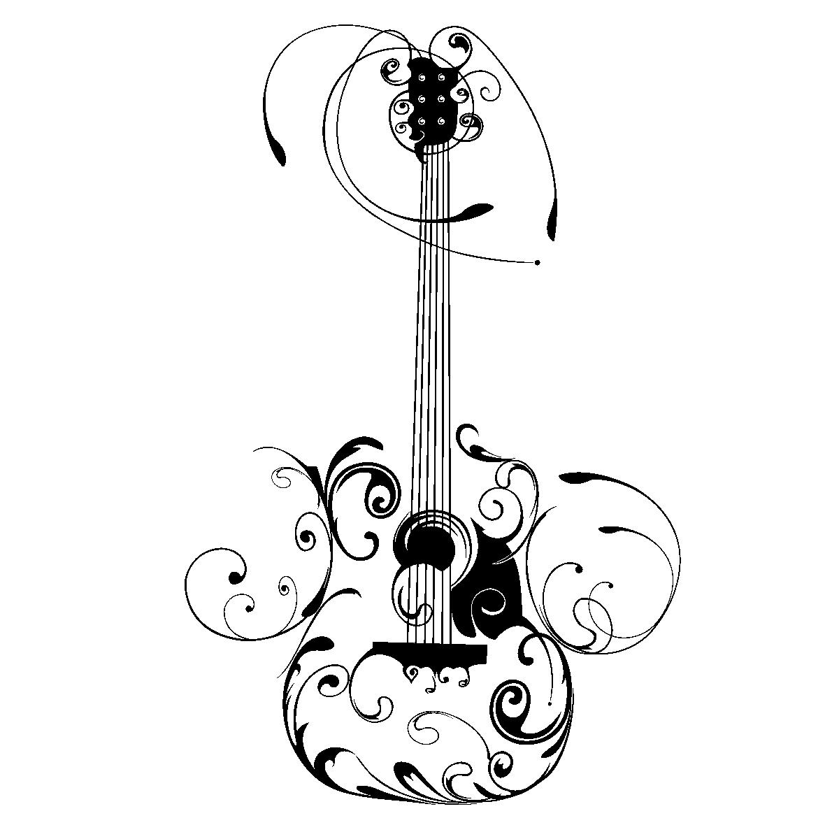 electric guitar drawing png