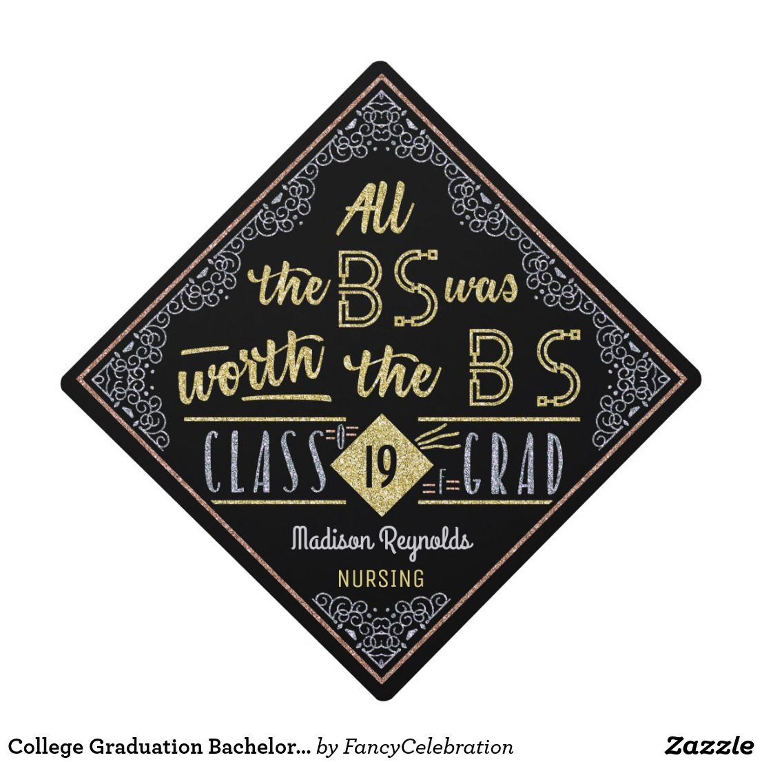 College Graduation Bachelor Of Science Degree Funny Bs Name