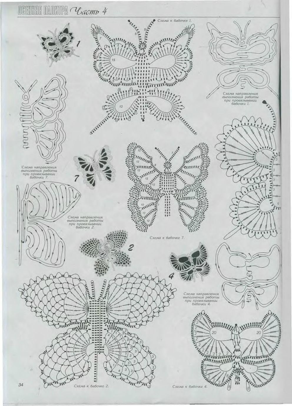 crochet patterns butterflies | Top crochet | Pinterest | Mariposas ...