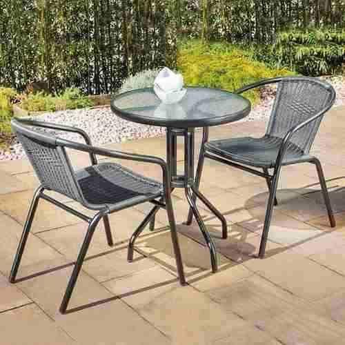 Set De Mesa Mas 2 Sillas Para Exterior Jardin Balcon Patio Con
