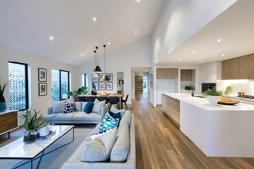 Furnishing open plan living modern open plan floorplans - Open floor plan kitchen living room dining room ...