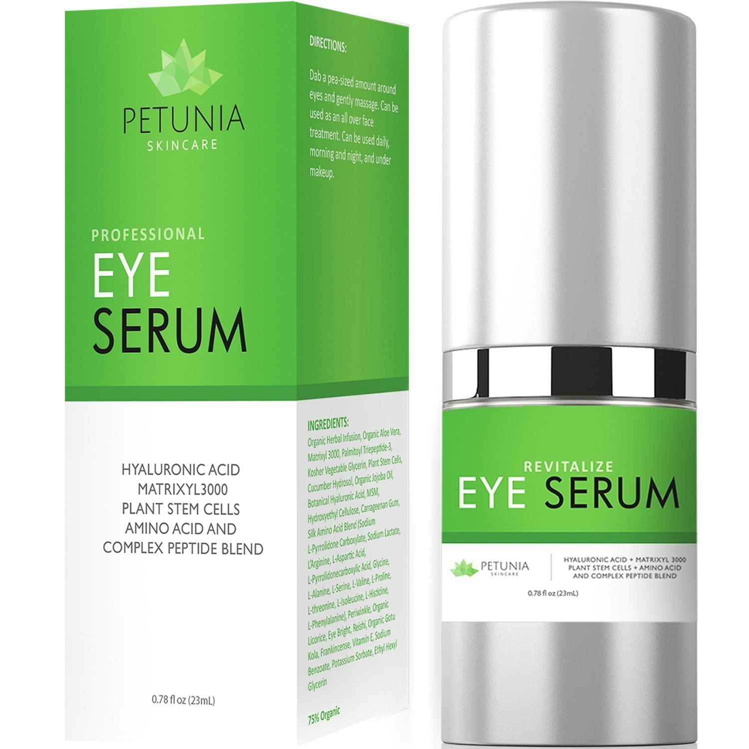 Revitalize Eye Serum  For Dark Circles Puffiness Bags Tired and