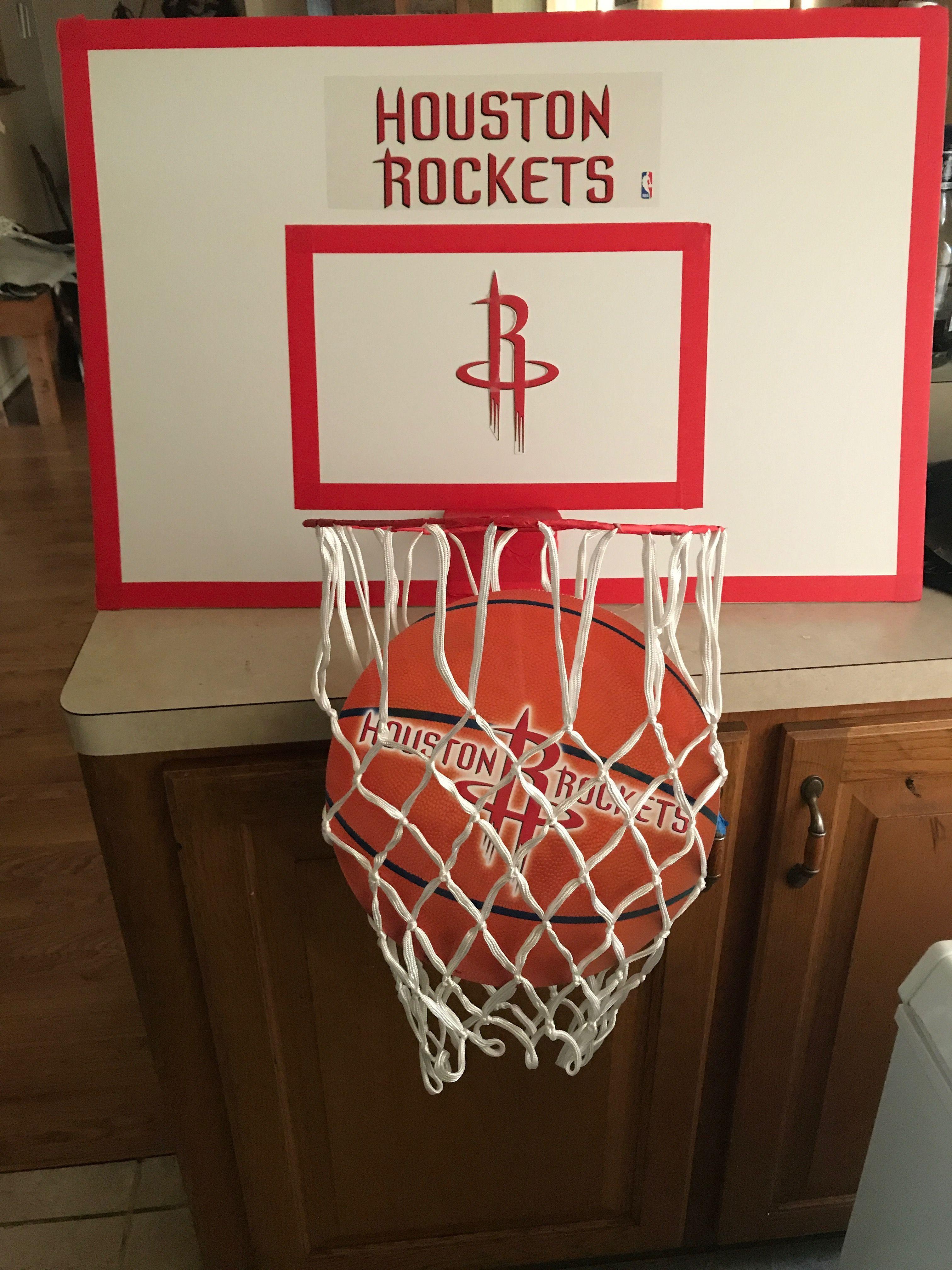 Diy Basketball Goal Foam Board Wire Hanger Red Tape And Basketball Net Diy Crafts Crafts Diy Basketball