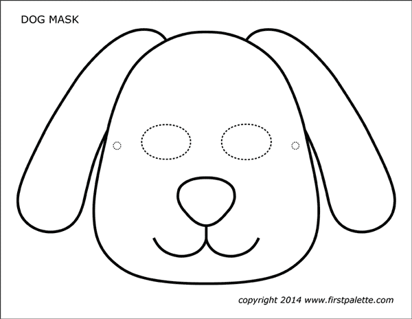 Dog Or Puppy Masks Free Printable Templates Coloring Pages Firstpalette Com Dog Mask Dog Template Animal Mask Templates