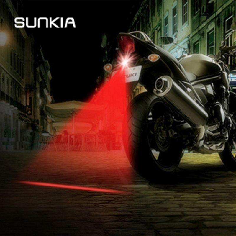 Fashion 7 Patterns Motorcycle Fog Lights Cool Motorbike Tail Light  Motorcycle Rear Car Laser Brake Turn