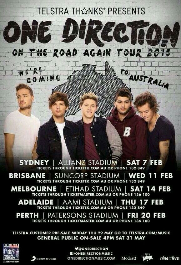 Concert Poster One Direction