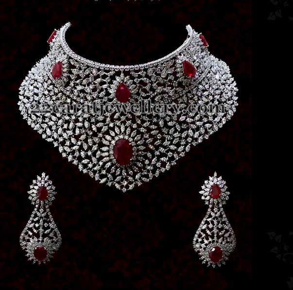 Heavy Diamond Necklace Jpg 603 596 Bridal Diamond Jewellery Bridal Diamond Necklace Diamond Necklace