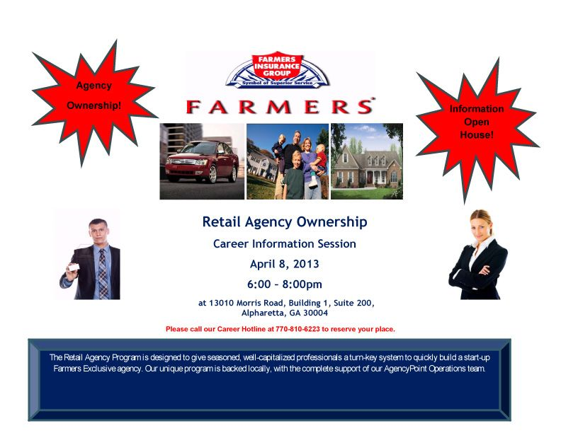 Farmers Insurance Group Career Information Session Alpharetta