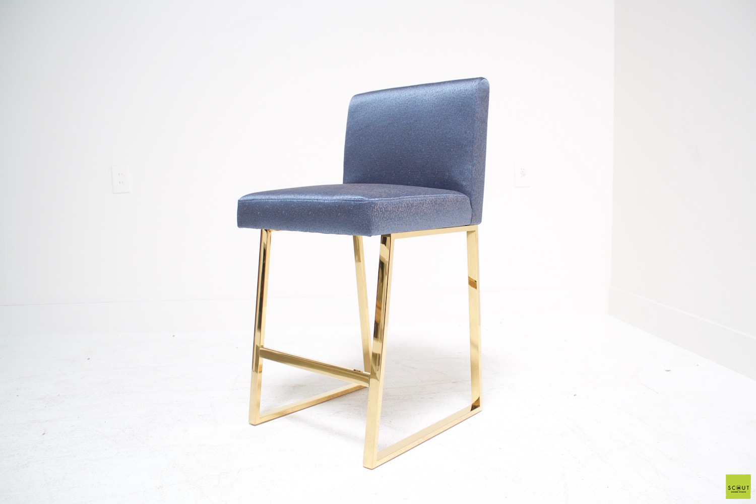 Cucina Scout Linden Bar Stool In Brass Scout Design Studio Drennen Kitchen