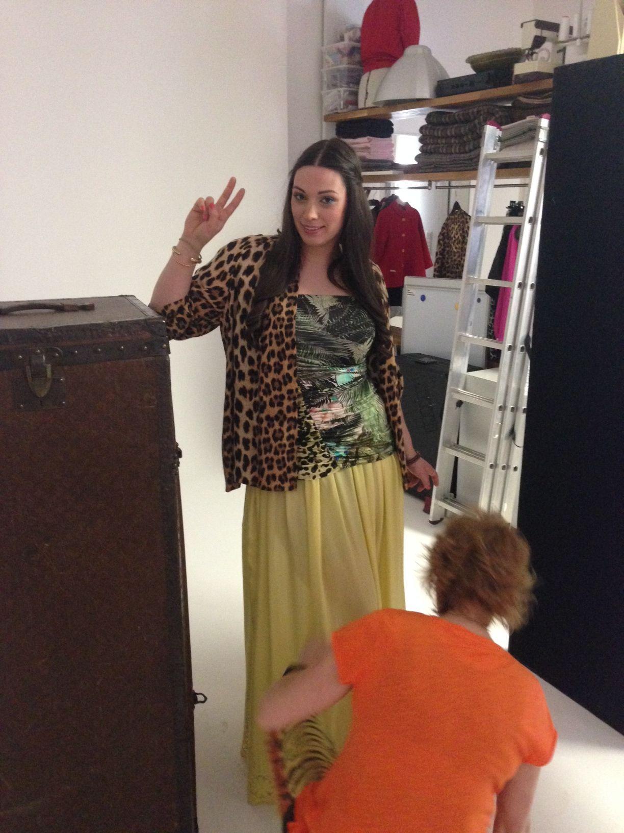 Hippie Girl in Leo - Model Silvana Denker & Designer Doris Megger #curvy, #curvyfashion