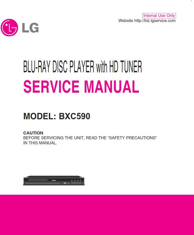 LG BXC590 blu ray player with HD tuner original service ... on