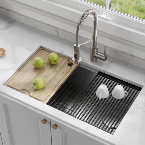 Kore Workstation 32 L X 19 W Undermount Kitchen Sink Undermount Kitchen Sinks Single Bowl Kitchen Sink Farmhouse Sink Kitchen