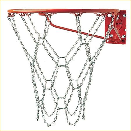 High Quality Steel Basketball Chain Net Fits As Replacement Net To All Standard 45cm Basketball Steel Ring Net Hoops Basketball Net Basketball Goals Goal Net