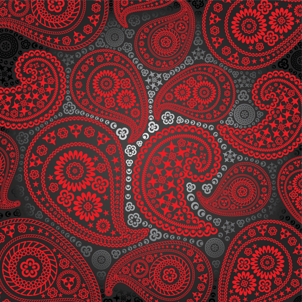 Paisley Pattern Red And Black Paisley Pattern Hq Pic High
