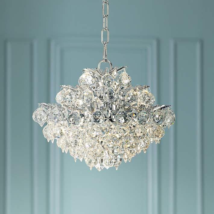 Bestier Modern Pendant Chandelier Crystal Raindrop Lighting Ceiling Light Fixture Lamp for Dining Room Bathroom Bedroom Livingroom entryway 3 E12