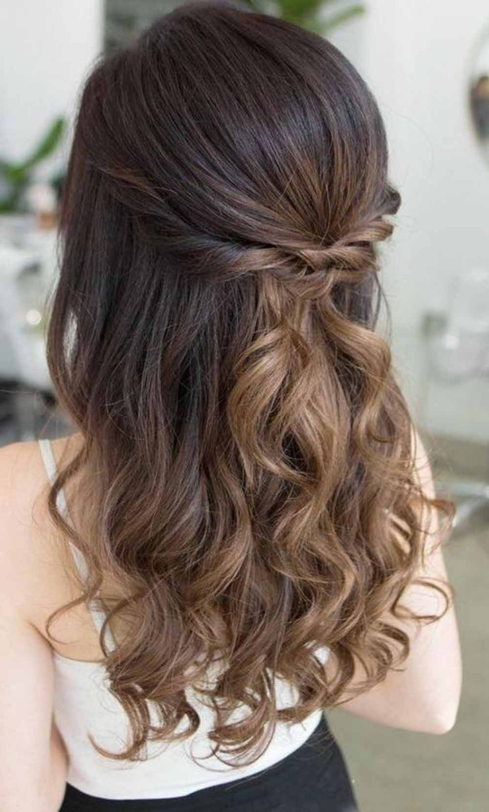 9 Prettiest Half Up Half Down Wedding Hairstyles For Women In 2020 Prom Hair Medium Hair Styles Medium Hair Styles