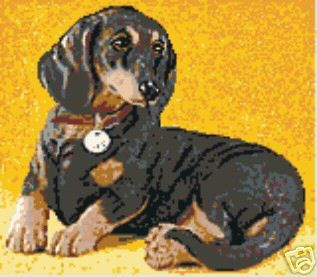Daschund Small Latch Hooking Rugs Color Charts Patterns Colorful